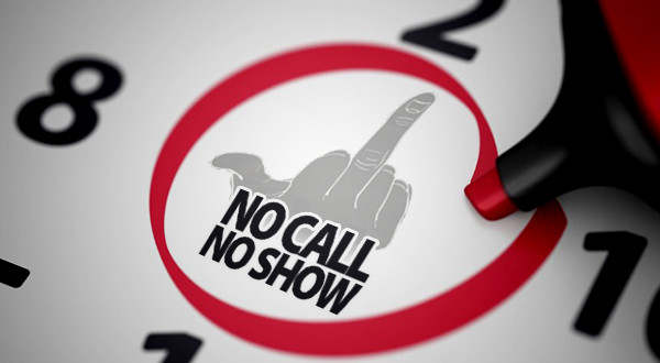 No call, No Show : The Invisible Middle Finger - Htfd Connect